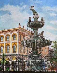 """Court Square Fountain"" by Edward Brummal"
