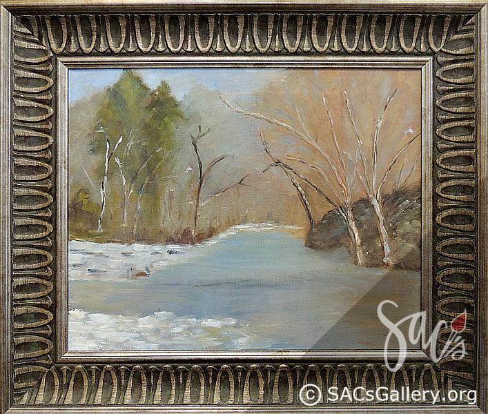 """Creek in Winter"" by Nancy Mitchell"
