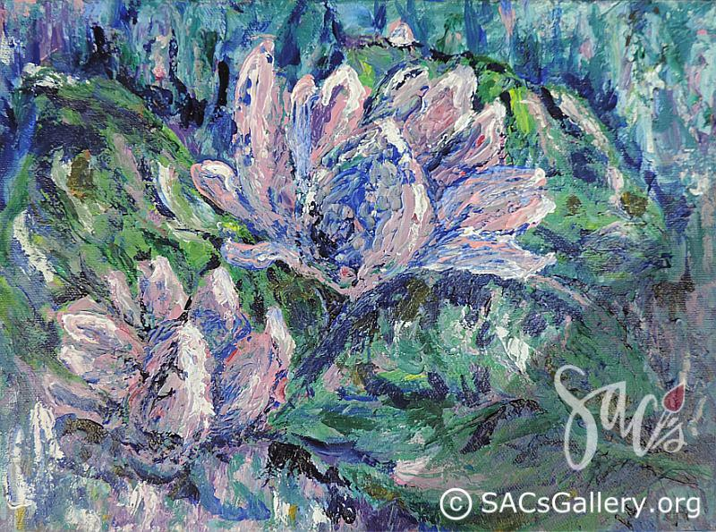 """Impression of Water Lilies"" by Ladonna Idell"