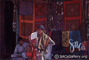 """Indian Fabric Salesman"" by Rich Richardson"