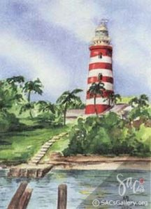 """Abaco Lighthouse"" by Kathie McLeod"