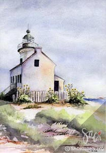 """San Diego Lighthouse"" by Kathie McLeod"