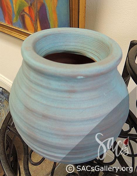 """Turquoise Thrown Bowl"" by Sarita Gish"