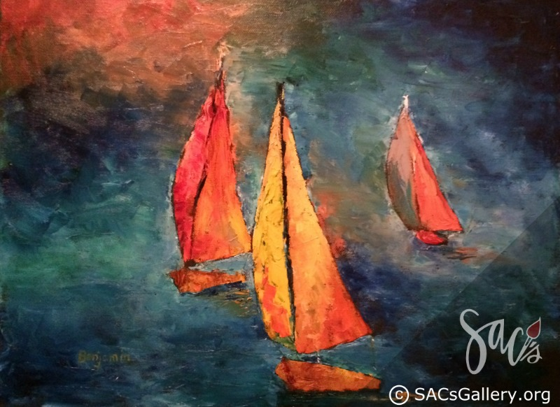 """Three Sails"" by Bill Sansom"