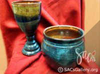 """Chalice or Wine Glass and Bowl"" by William Campbell"