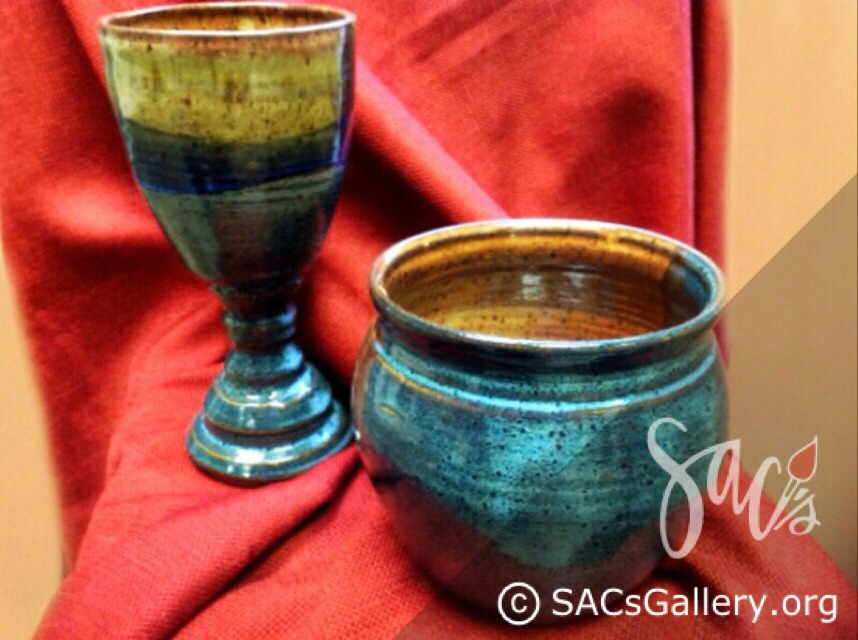 """""""Chalice or Wine Glass and Bowl"""" by William Campbell"""