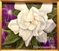 """Gardenia & Clematis"" by Doti Kendrick"