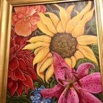 """Downtown Farmer's Market Flowers - framed"" by Doti Kendrick"