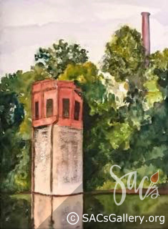 """Old Tower on the Alabama River"" by Peggy Milburn Brown"