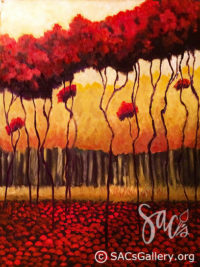 Abstract Trees, Exhibitor, Ben Sansom, Artist, SAC's Gallery, Mongomery AL Artist