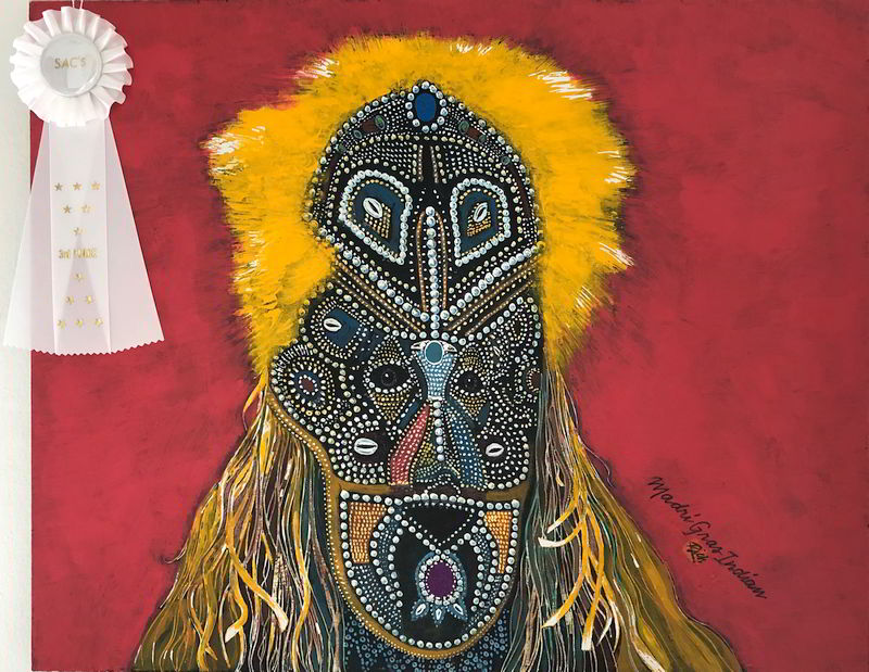Mardi Gras Indian Mask - Rich Richardson