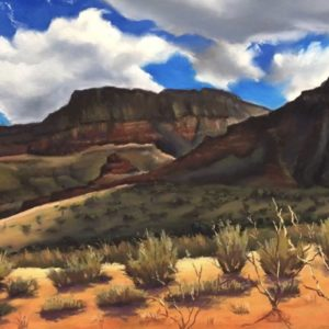 Mountain Desert meets Blue Sky