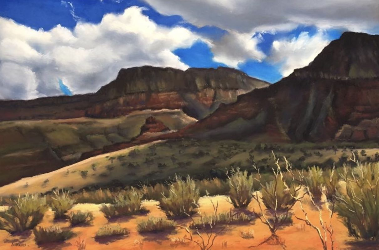 Mountain Desert meets Blue Sky by David Jones
