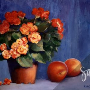 Begonias and Peaches