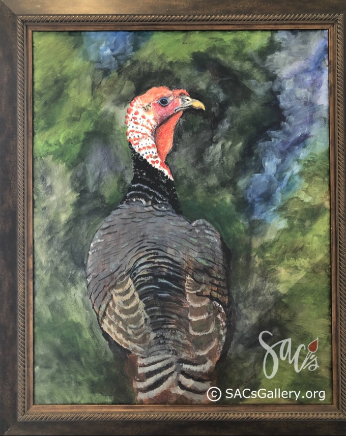 Painting of a Turkey by Peggy Raines